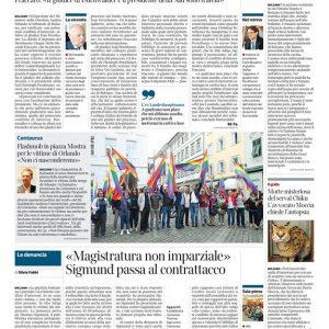 Corriere dell'Alto Adige, 16/06/2016, Thomas Sigismund e Biagio Riccio - Favor Debitoris